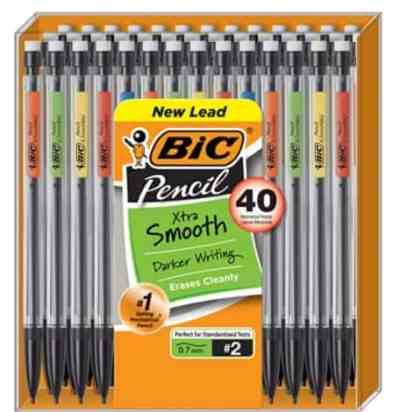 Amazon: 40 Count BIC Xtra-Smooth Mechanical Pencil for $9.88 (Reg. Price $11.99)