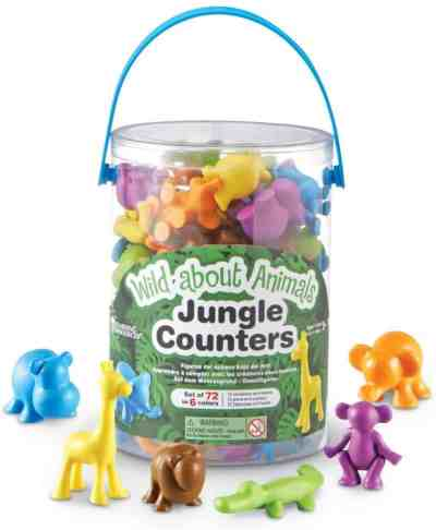 Amazon: 72-Pce. Learning Resources Wild About Animals Jungle Counters, Counting & Sorting only $12.31