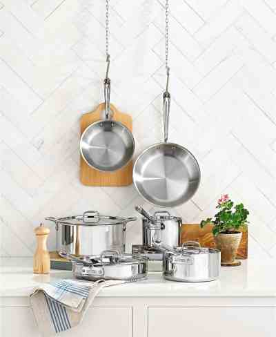 Macy's: All-Clad 10-Piece Stainless Steel Cookware Set For $699.99 (Reg $1166) Shipped.