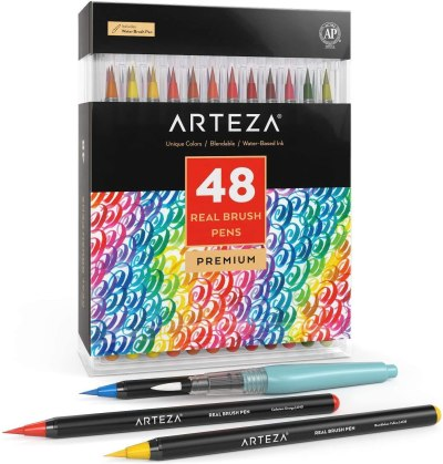 Amazon: Arteza Real Brush Pens, 48 Colors for Watercolor Painting, Just $23.82 (Reg $37.79)