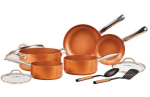 Walmart: Copper Chef 10 Piece Nonstick Pan Set, with CeramiTech for Only $79.72