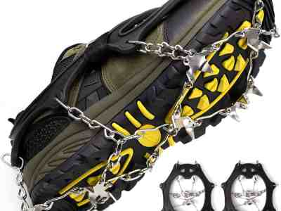 Amazon: Crampons Ice Cleats for Shoes and Boots Women Men Kids Anti Slip, Just $9.73-$8.43 (Reg $14.98-$12.98) after code!
