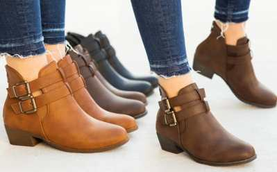 Jane: Cut Out Buckle Ankle Booties ONLY $19.99 + FREE Shipping (Regularly $70) – 3 Colors!