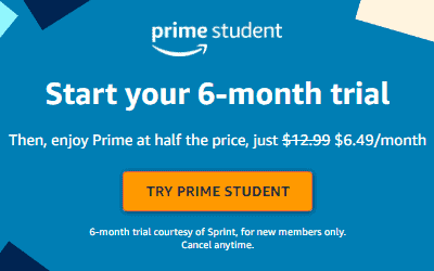 FREE 6-Month Amazon Prime Membership for College Students (FREE 2-Day Shipping!)