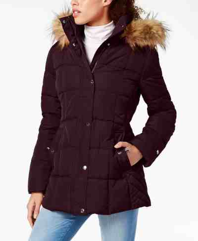 MACY'S: Tommy Hilfiger Faux-Fur-Trim Hooded Puffer Coat For $89.99 At Reg.$195.00 Many Colors