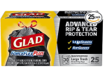 Amazon: Glad ForceFlexPlus Black Large Drawstring Trash Bags 25 Ct Now $4.85 ($14.28)