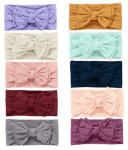 Amazon: 10pcs Baby Nylon Headbands, Bow Elastics for Baby Girls $8.5 ($17)