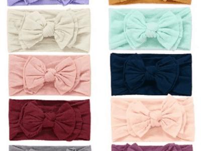 Amazon: 10pcs Baby Nylon Headbands, Bow Elastics for Baby Girls $8.5 ($17)