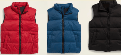 Old Navy: Frost-Free Solid Puffer Vest for Boys ONLY $10