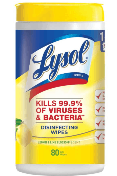Amazon: Lysol Disinfecting Wipes, Lemon & Lime Blossom, 80ct for $3.68
