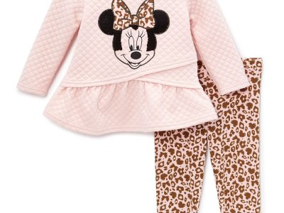 Zulily: Minnie Mouse Pink Peplum Top & Pink Leopard Leggings Now $14.99