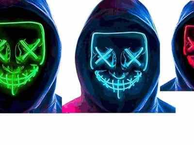 Amazon: LED Halloween Light Up Purge Mask Women $4.8 ($12)