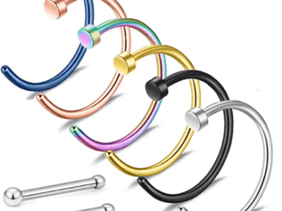 Amazon: Nose Rings Hoop 18G 20G for $2.10