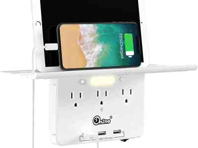 Amazon: ON2NO Wall Outlet Extender with All Around Built-in Shelf, Just $13+ (Reg $27.99) after code!