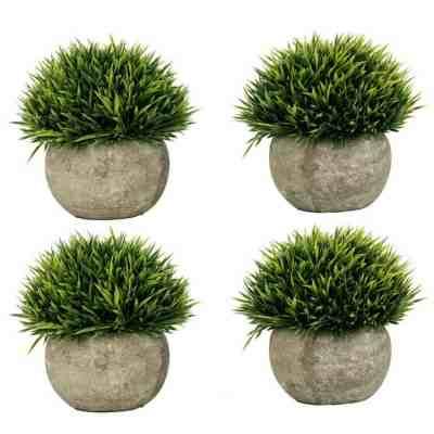 Amazon: Set of 4 Artificial Plastic Mini Plants ONLY $8.40