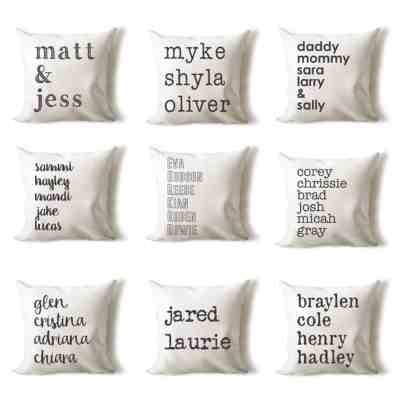 JANE: Personalized Family Names Pillow Covers only $12.99 shipped! Reg.$49.99