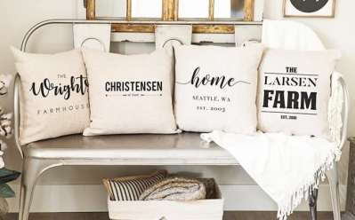 Jane: Personalized Farmhouse Pillow Cover for ONLY $9.99 + FREE Shipping (Reg $25)