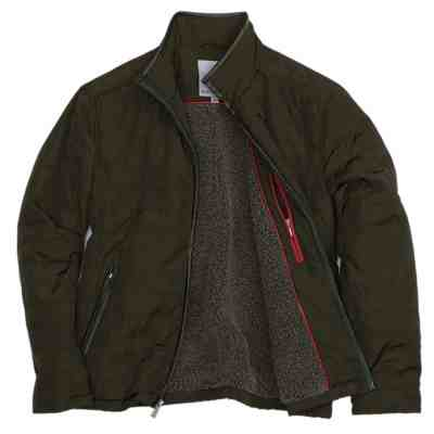 JANE: Rainforest Men's Quilted Jacket W/ Faux Leather Trim For $49.99 At Reg.$150.00