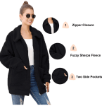 Amazon: Basic Model Women Sherpa Jacket for 13+