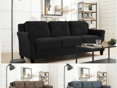 Walmart: Lifestyle Solutions Taryn Curved Arm Fabric Sofa $259.13 (Reg $349.00)
