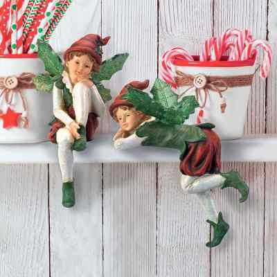 Wayfair: Santa's Christmas Elves Shelf Sitter 2 Piece Sculpture Set Now $38.90