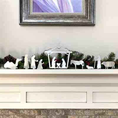Jane: Standing Metal Christmas Nativity Collection just $24.99 shipped!