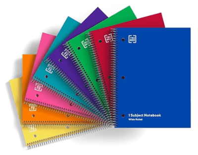 Staples: TRU RED 1-Subject Notebook 8 x10.5-in Wide Ruled 70 Sheets for $0.25 + Free Shipping! (Reg. Price $2.28)