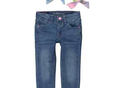 Zulily: Jelly fish Blue Cuffed Skinny Jeans & Tie-Dye Scrunchie Set Now $11.99