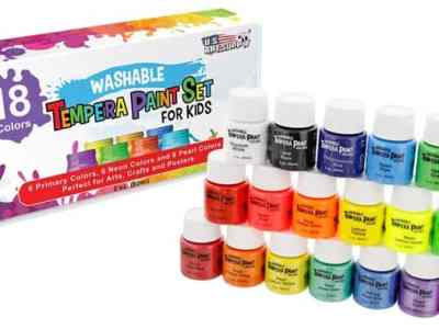 Amazon: Washable Paint Set 18 Colors JUST $19.96 (Regularly $30)