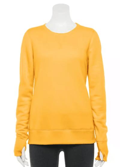 Kohl's: Women's Tek Gear® Ultrasoft Fleece Crewneck Sweatshirt for $12.99 + Free Store Pickup! (Reg. Price $20.00)