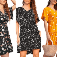 Amazon : Women's V Neck Short Dresses Just $8.75 to $10.15 W/Code (Reg : $28.99)