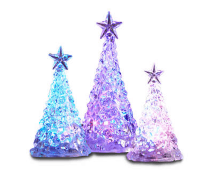Belk: Acrylic LED Color Changing Christmas Tree 3 Pack ONLY $15 (Reg $50)