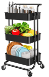 Amazon: YANXUS 3-Tier Rolling Utility Cart Only $22.38 (Reg. $35.99)