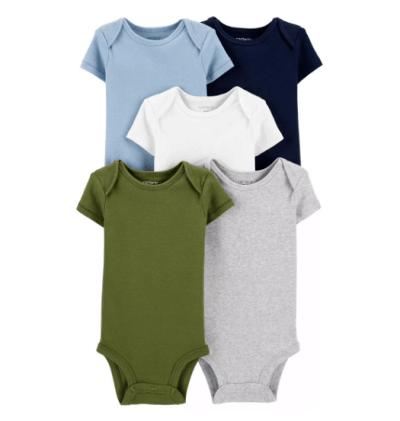 Kohl's: Baby Boy Carter's 5-Pack Short-Sleeve Bodysuits For $12.74 At (Reg.$28.00)