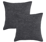 Amazon: Chenille Throw Pillow Covers 18x18 Inch Black Only $8.39 W/Code (Reg. $11.98)
