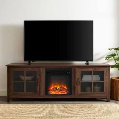 HOMEDEPOT: Walker Edison 70 in. Dark Walnut TV Stand 75 in. w Electric Fireplace $278.49 (Reg $442.53) w code THANKSGIVING20