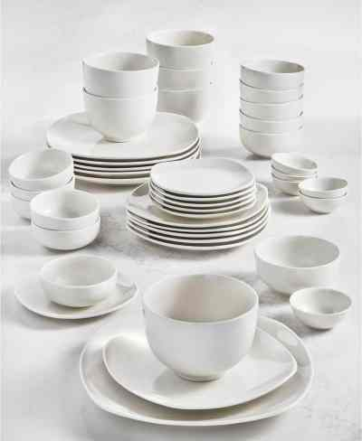 Macy's: Tabletops Unlimited Whiteware 42-PC. Dinnerware Set,For $37.99 (Reg $120.00)