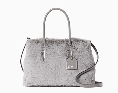 Kate Spade: Eva Faux Fur Small Top Zip Satchel for $89!!(Reg. $349)
