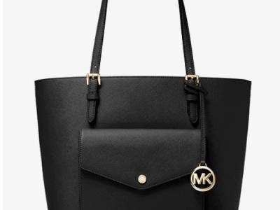Michael Kors: Jet Set Large Leather Pocket Tote Bag for $82!!(Reg. $228)
