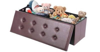 Amazon: Folding Ottoman Bench w/ 80L Storage $42 ($60)