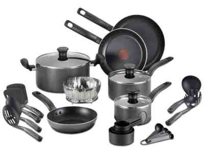 MACY'S: T-Fal 18-Pc. Nonstick Cookware Set $48.99 (Reg $179.99) with code FRIEND