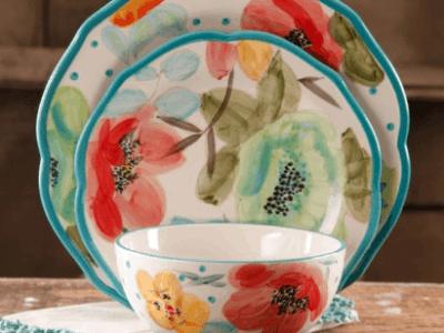 Walmart: The Pioneer Woman Vintage Bloom 12-Piece Dinnerware Set Only $44.97 (Reg. $51.41)