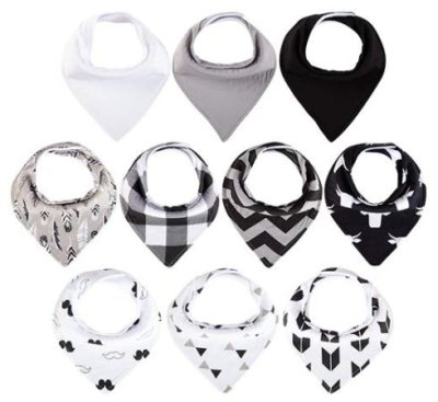 Amazon: 10-Pack Baby Bandana Drool Bibs for $11.99 (Reg. Price $23.98) at checkout!