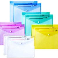Amazon : 10 Pack US Letter A4 Size Transparent File Folders with Label Pocket & Snap Closure Just $4.94 W/Code (Reg : $10.99)