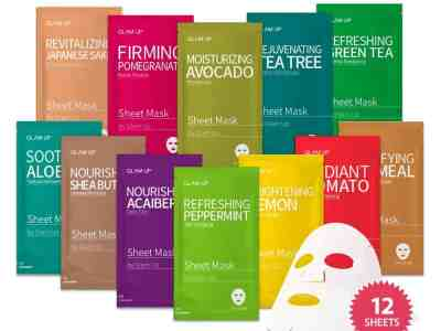 AMAZON: 12 Count Sheet mask by Glam Up Facial Sheet Mask for $9.95 (Reg.Price $16.90)