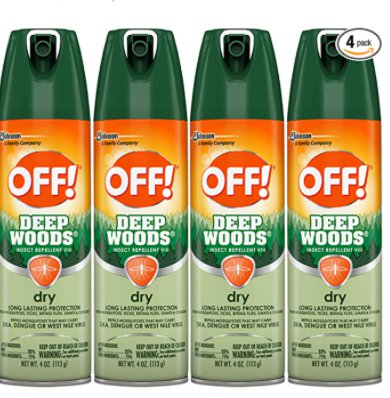 Amazon: 4 Pack OFF! Deep Woods Insect & Mosquito Repellent for $17.64 (Reg. Price $23.52) after coupon!