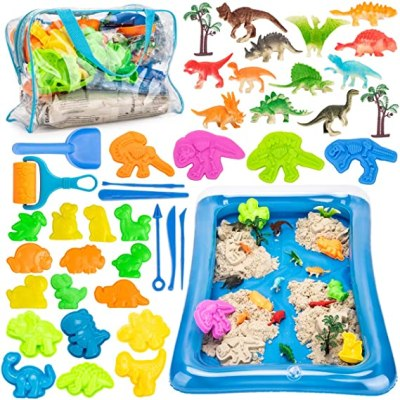 Amazon: 44 PIECE Dinosaur Sandbox With 3lbs Magic Sand - 40% off W/Code