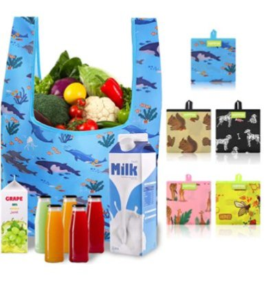 Amazon: 5 Pack Reusable Shopping Bags for $8.99 (Reg. Price $17.99) after code!