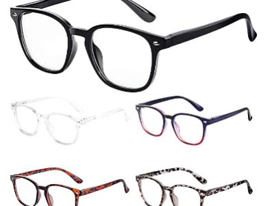 Amazon: BLS 5 Pack Blue Light Blocking Fashion Fake Computer Glasses for $6.79 W/Code (Reg. $16.98)