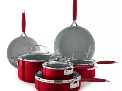 Kohl's: 10-Piece Nonstick Ceramic Cookware Set ONLY $55.24 (Reg $130) + $15 Kohl's Cash